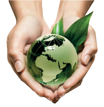 globe in the palm of hands suggesting environmental protection